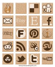 clay-social-media-icons
